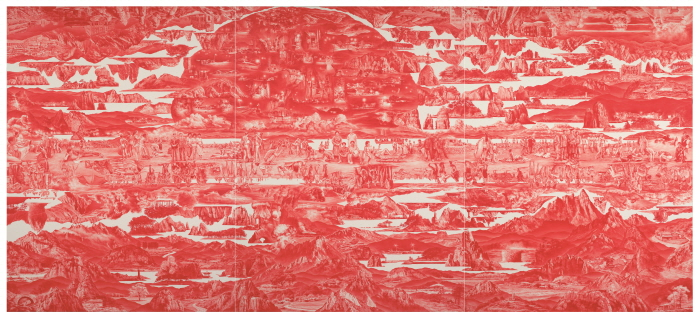 Lee Seahyun Between red-187 2013 Oil on linen 334x745cm