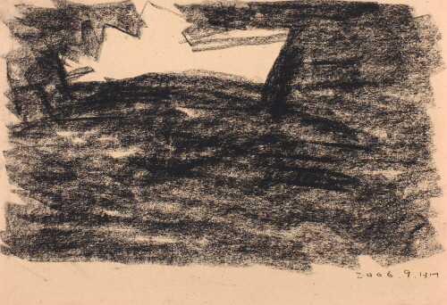 White Boat, 2006, Charcoal on paper, 24x35cm