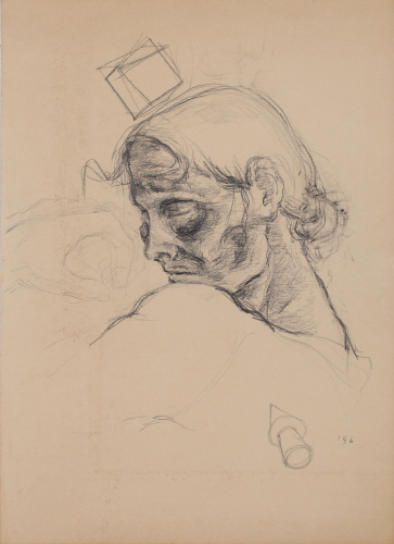 Exercise on Skin and Bones, 1996, Pencil on paper, 52x37cm