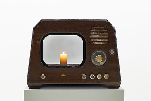 TV Candle, 1996, Mixed Media, 51x60x44cm
