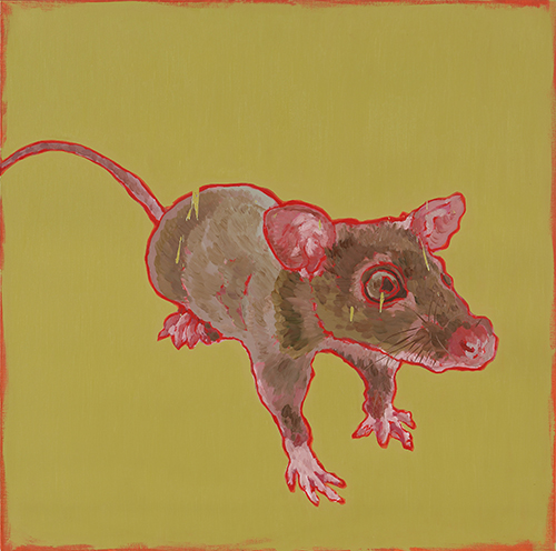 Eradication of Four Pests - Mouse, 2014, Oil on canvas, 100x100cm