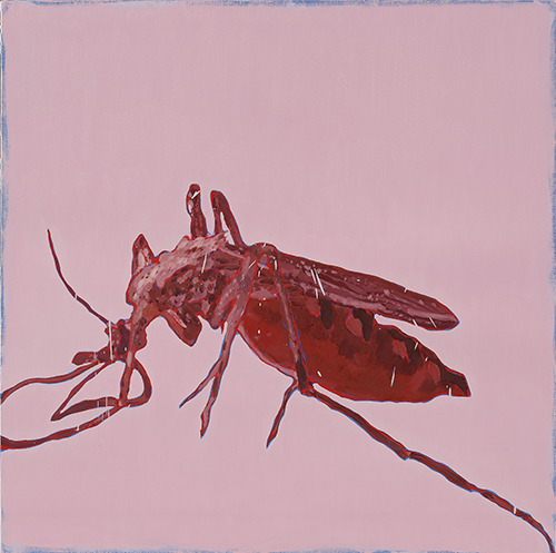 Eradication of Four Pests - Mosquito, 2014, Oil on canvas, 100x100cm