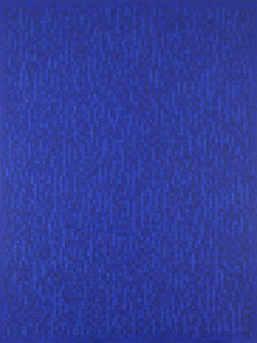 Untitled 91-10-25, Frottage on canvas, 258.5x193.5cm, 1991