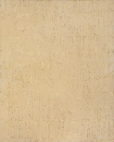 Untitled 74-B, Frottage on canvas, 162x130cm, 1974